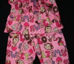 monkey sweet love pajama pair